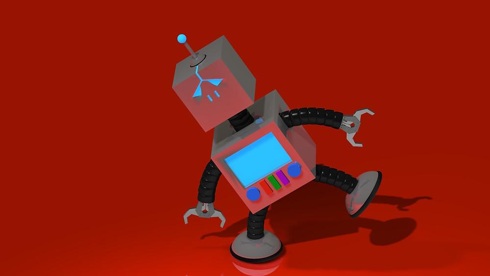 A robot...Just a simple robot.