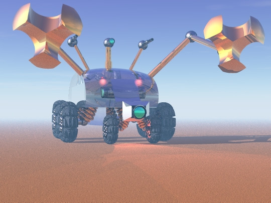 A render of another Mars Rover