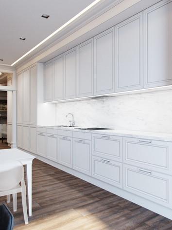 Дизайн кухні в неокласика