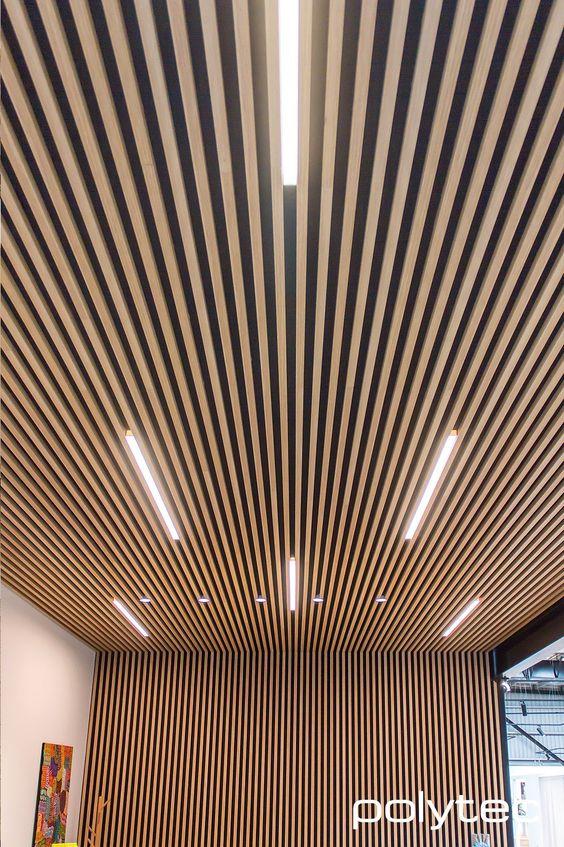Реечный потолок в определенных зонах