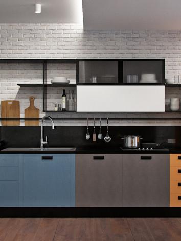 Дизайн интерьера квартиры в современном стиле с легкой ноткой 60х