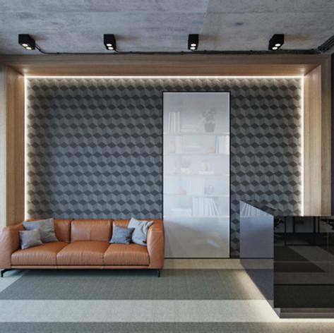 Дизайн современного офиса в современном стиле.