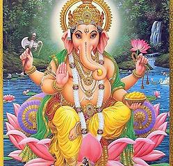 Lord Ganesha Sitting on Lotus.jpg