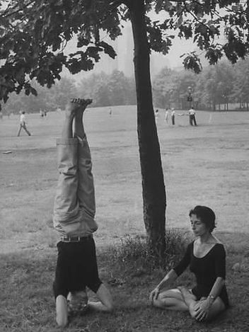 'People Practicing Yoga in Central Park' Photographic Print  _ Art_com.jpg