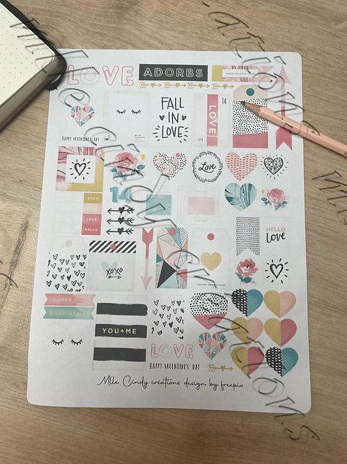 "stickers  ""LOVE"""