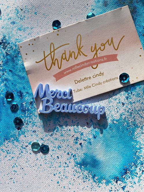 """mot """"Merci beaucoup """""""