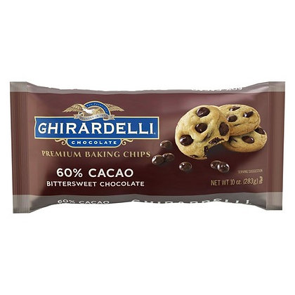 GHIRARDELLI, 60% Cacao Bittersweet Chocolate Baking Chips