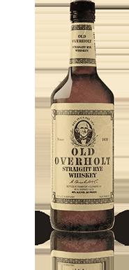 OLD OVERHOLT RYE WHISKEY BOTTLE