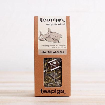 TEAPIGS, Silver Tips White Tea 15ct