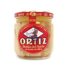 ORTIZ, White Bonita Tuna Glass Jar