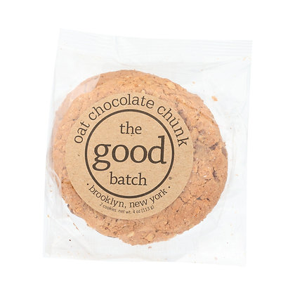 THE GOOD BATCH, Oat Chocolate Chunk Cookies 2PK