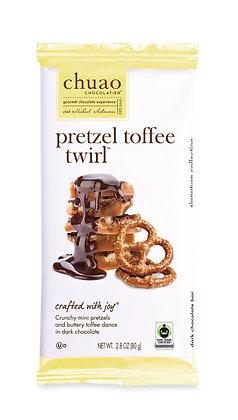 CHUAO, Pretzel Toffee Twirl Bar