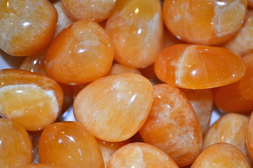 Calcite Arancione Burattata