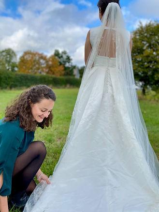 Professionelle Brautjungfer Hochzeit Braut