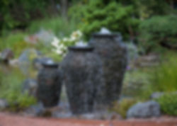 Stacked Slate Urns