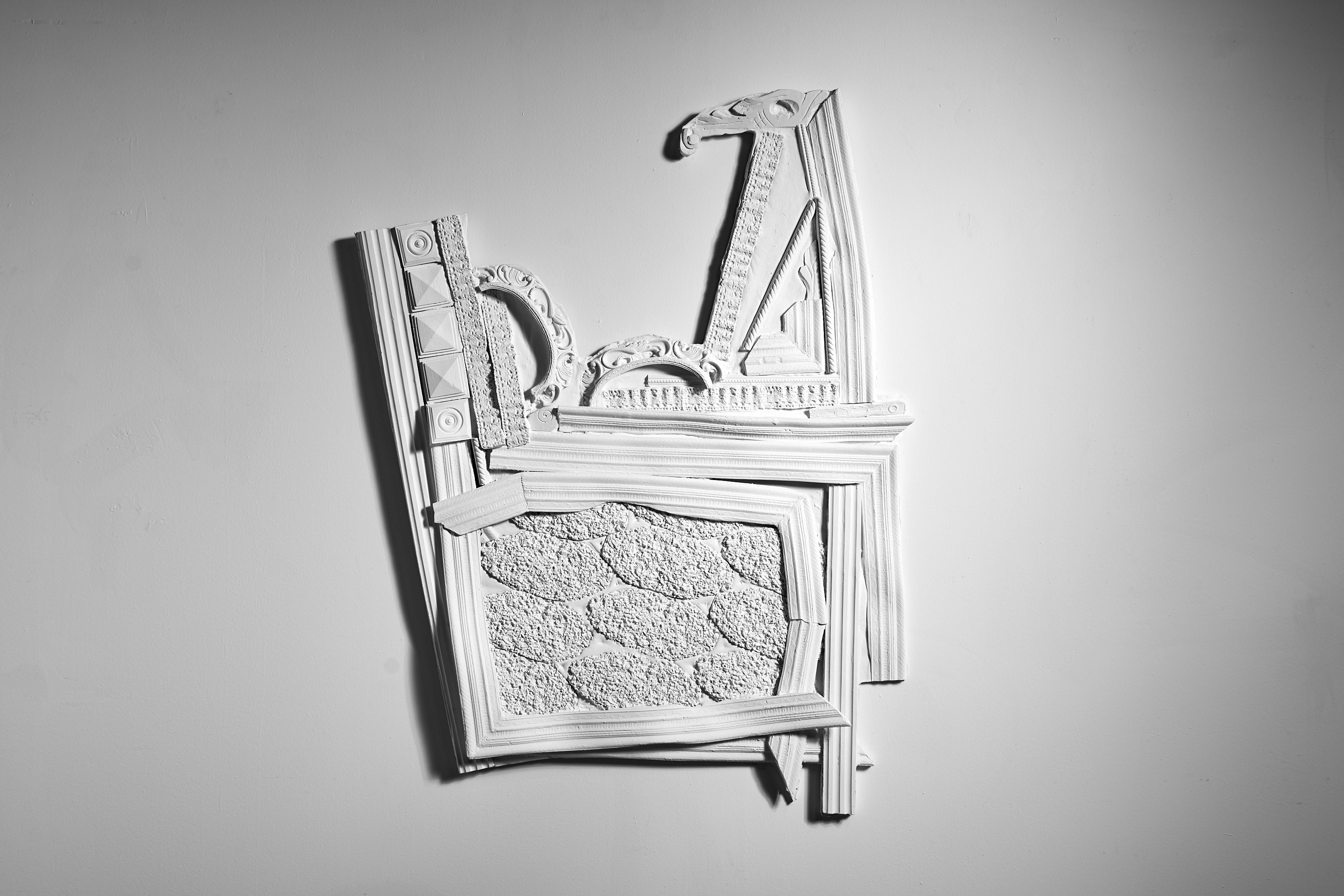 """Breaking Ground"" plaster relief"