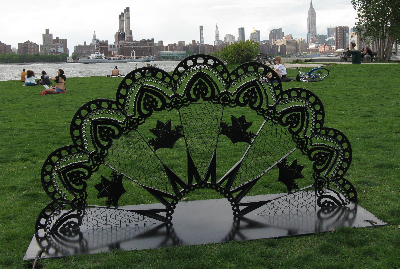 """Machine Lace"" steel sculpture"