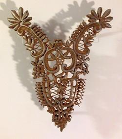 """""""Cast Lace"""" iron sculpture"""