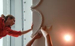 plaster sculpture in progress