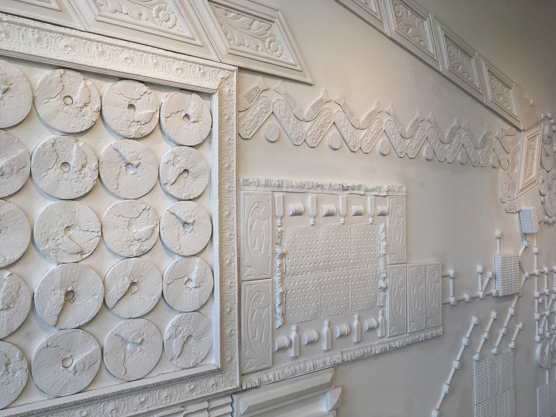 plaster relief sculpture