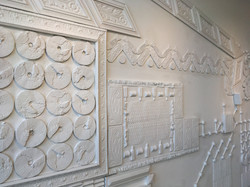 plaster relief sculpture