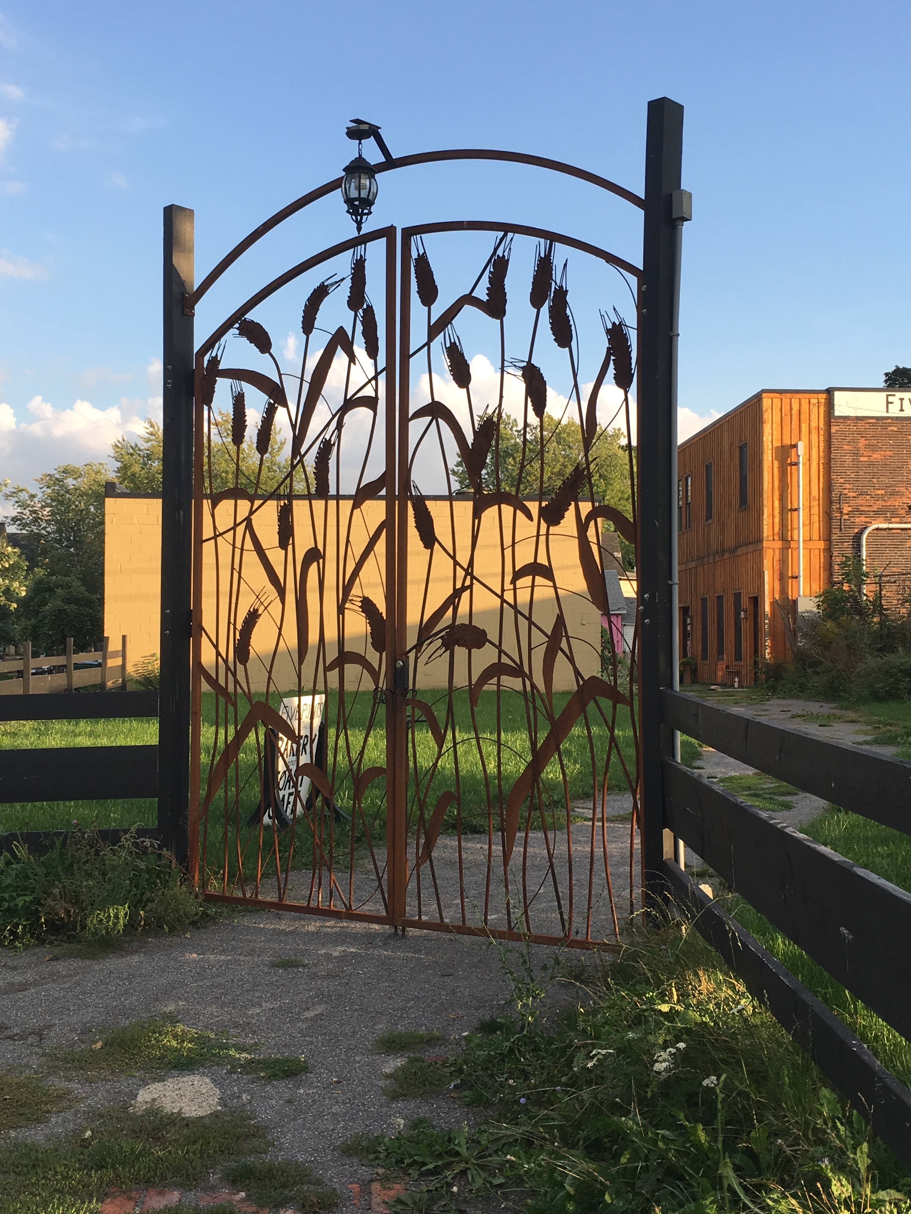 """Wheat Gate"" steel fabrication"