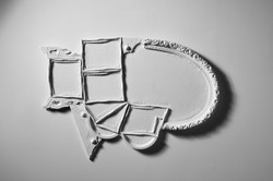"""Animal"" plaster sculpture"