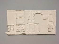 """My Neighborhood"" plaster sculpture"