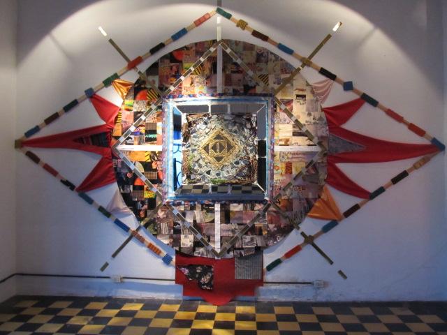 """""""La Plata Mandala"""" mixed media"""