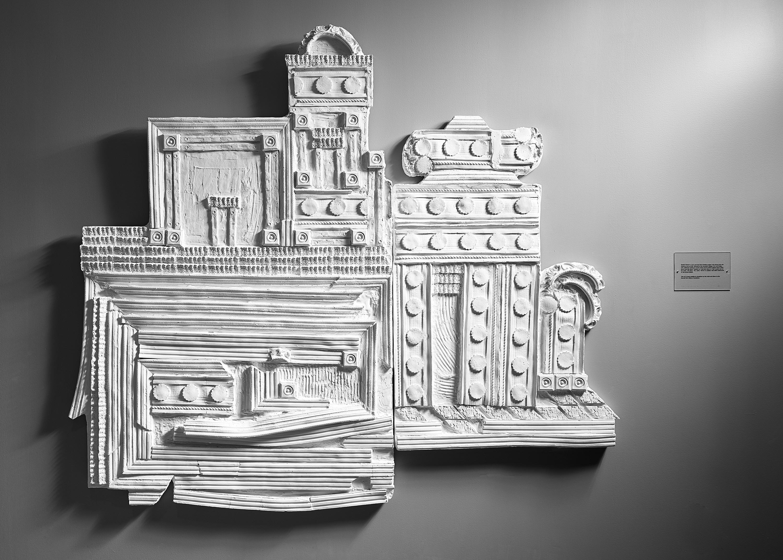 """""""D.C.,Cairo""""  plaster relief"""