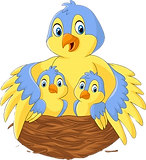 mother-bird-with-her-two-babies-nest_291