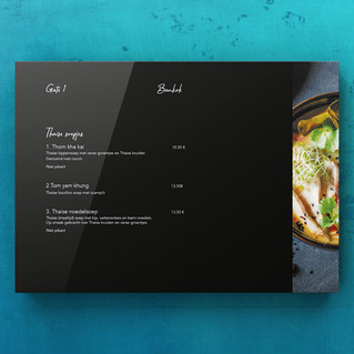 Layout menukaart