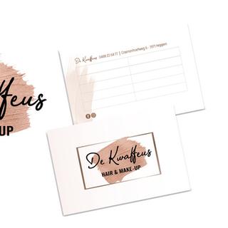 Logo en visitekaartje voor De Kwaffeus