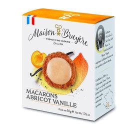 Luchtige krokante macaron koekjes met abrikozen en vanille