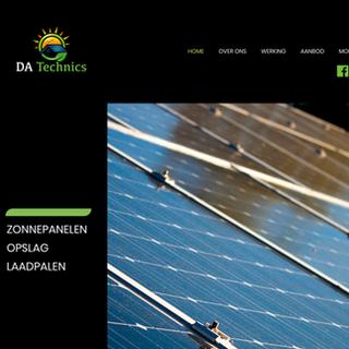 Webdesign voor DA Technics