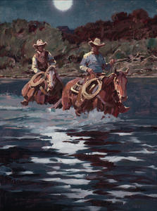 Moon Rise on the Pecos  18 X 24