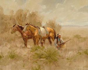 Horse Stealer 11 X 14