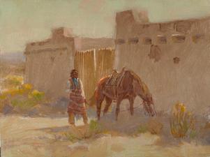 El Pueblo Gate 9 x 12