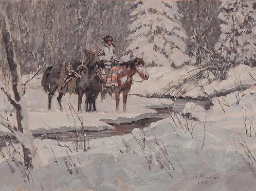 Deer Hunter Oil 12 x 16