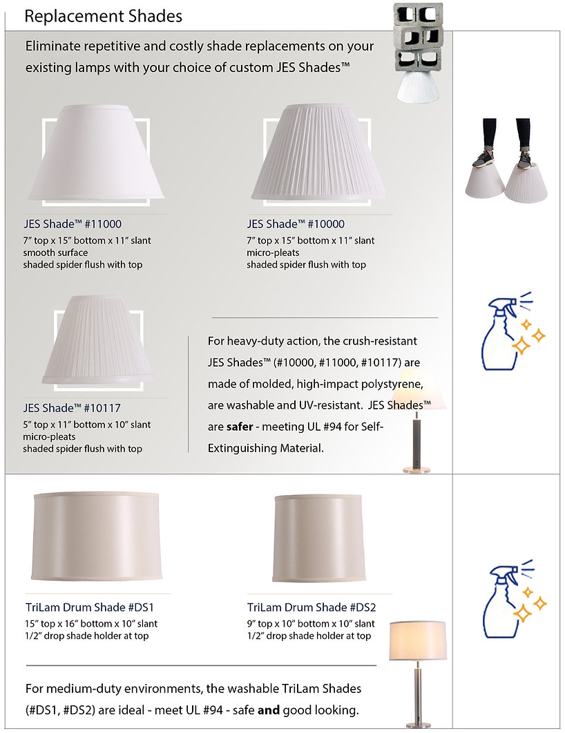 Washable, Durable and Fire-resistant Lamp Shades