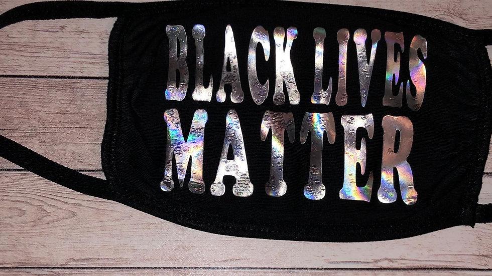 Holographic Black Lives Matter Mask