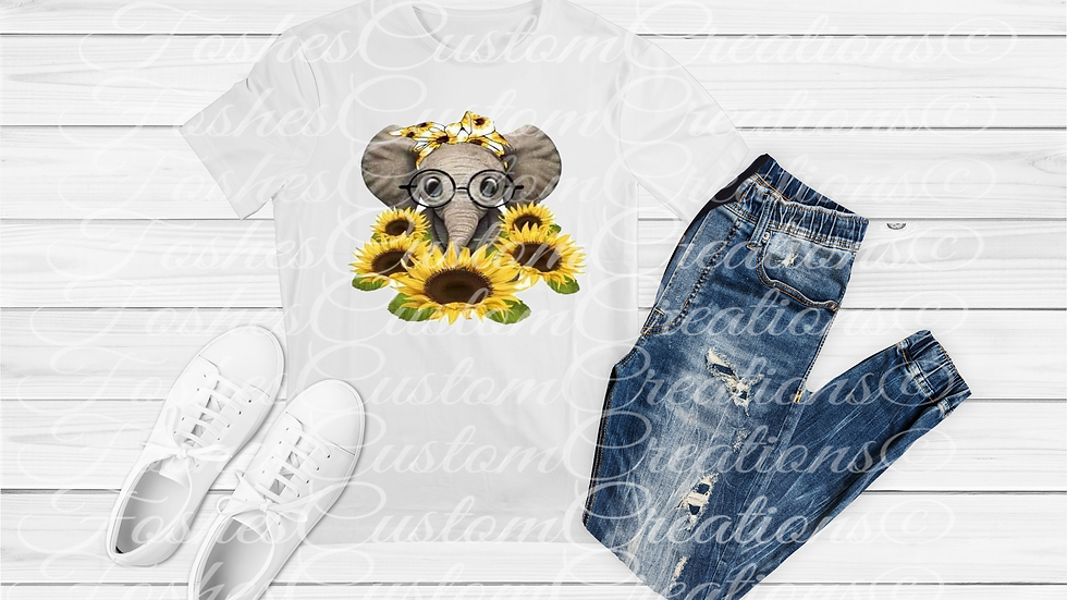 Elephant Sunflower Tee