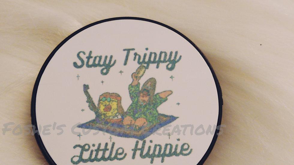 Stay Trippy Little Hippie Popsocket