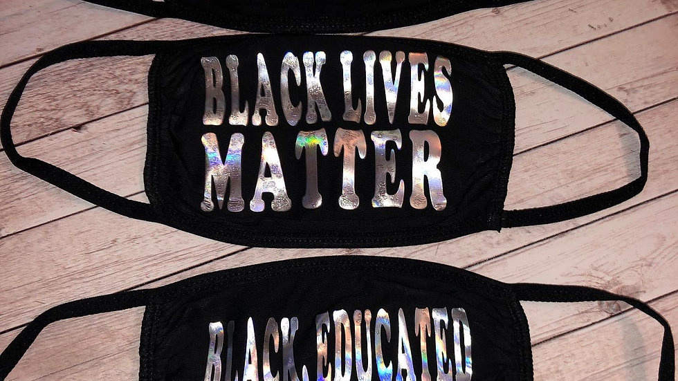Black Lives Matter Mask Trio