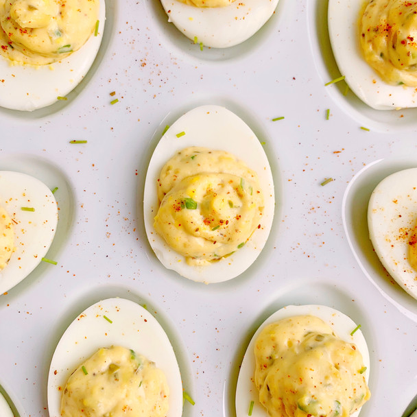 Zesty Old Bay Deviled Eggs
