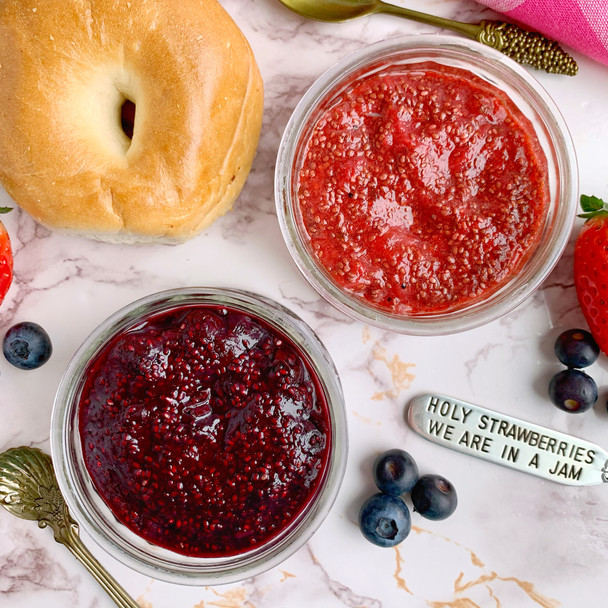 Berry Chia Jam 2 Ways