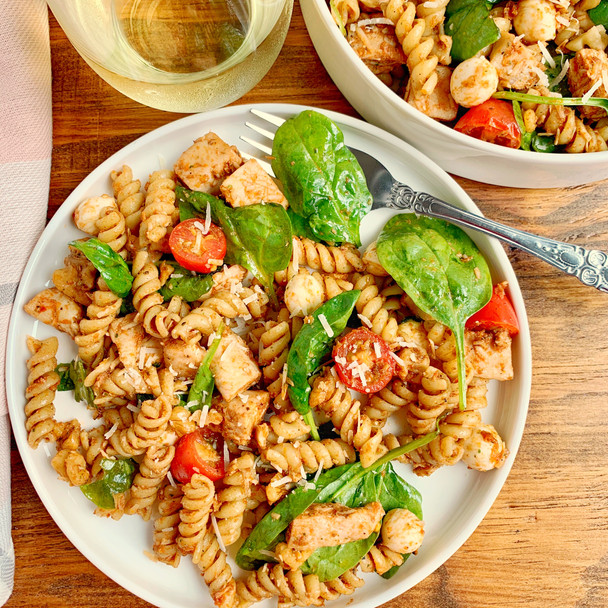 Sun Dried Tomato Chicken Pasta Salad