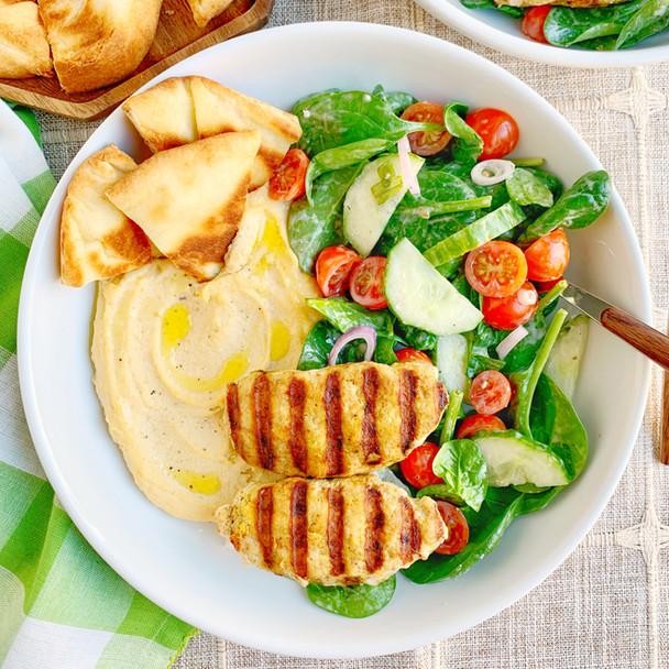 Chicken Kofta Hummus Bowls