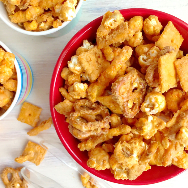 Cheesy Caramel Snack Mix