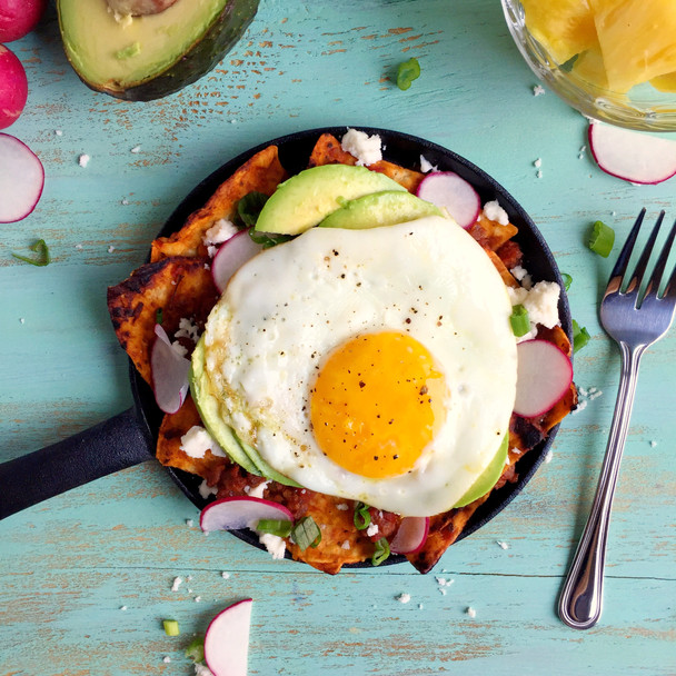 Single Serve Chilaquiles